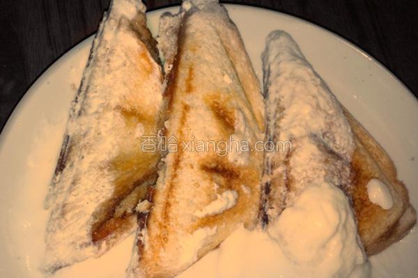 雪衣三明治的做法