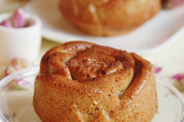 玫瑰造型香蕉蛋糕的做法