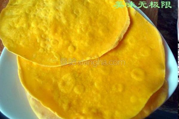 南瓜卷饼成品图