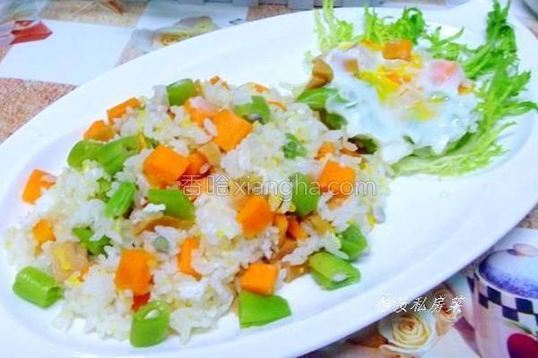 三丁焖饭的做法
