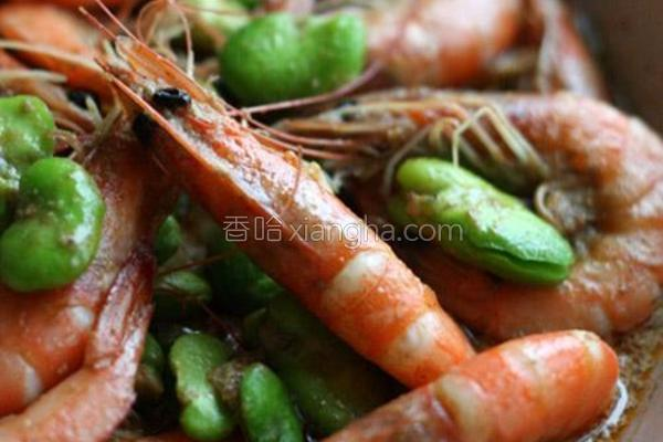 青咖喱虾的做法