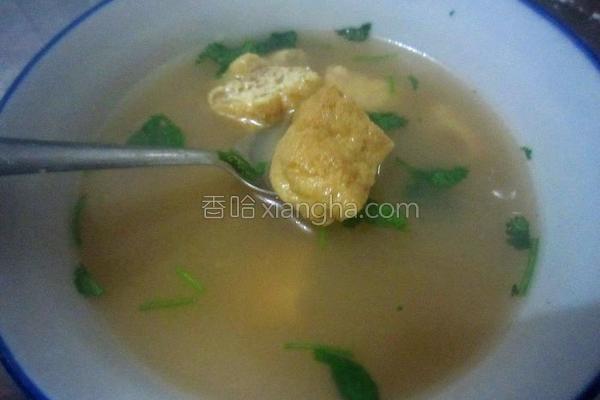 豆泡汤的做法