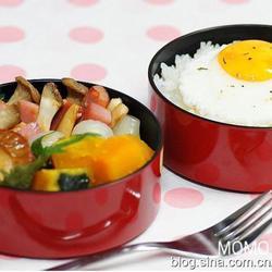 红烧扇贝与甜煮南瓜便当的做法[图]