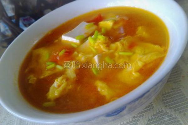 番茄鸡蛋豆腐汤的做法