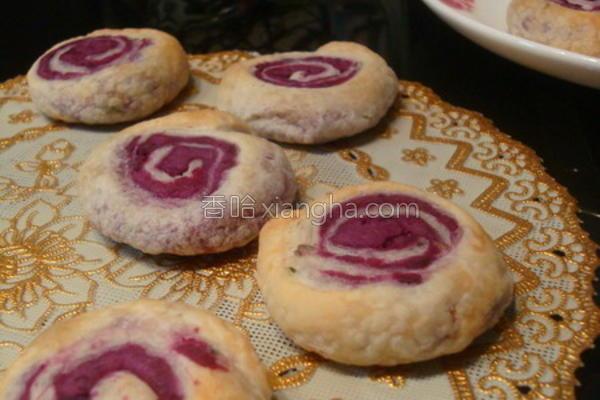 紫薯年轮饼的做法