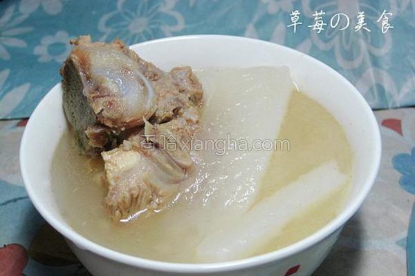 白萝卜猪骨汤的做法