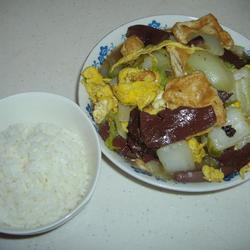 红白豆腐烩白菜的做法[图]
