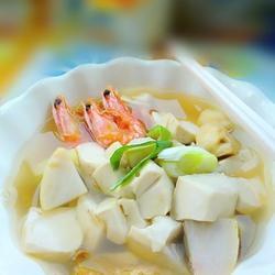 芋头豆腐鲜虾汤的做法[图]