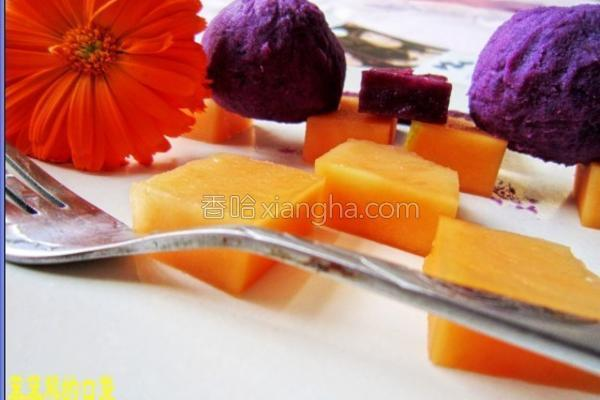木瓜紫薯球的做法