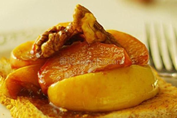 焦糖核桃苹果的做法