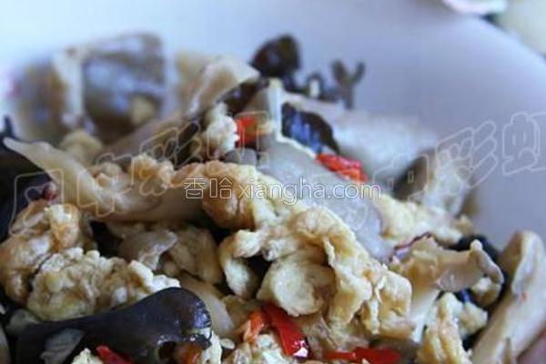 剁椒菌菇蛋的做法