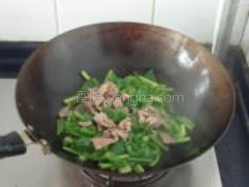 加入炒好的肉和一点生抽,翻炒均匀即可。