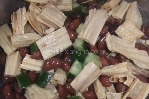 花生米拌腐竹的做法