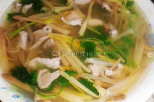 黄花肉片汤