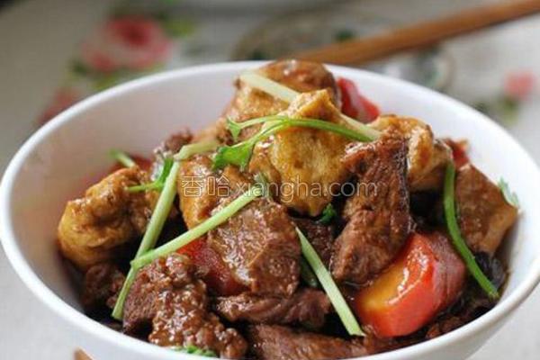 油豆腐泡烧牛肉的做法