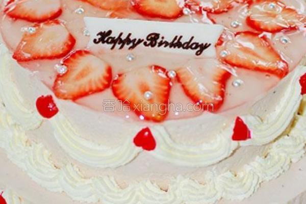 双层草莓芝士蛋糕的做法