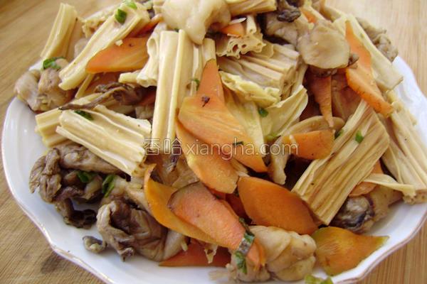 腐竹烧鲜蘑的做法