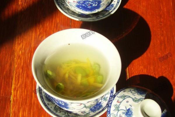 桔皮熏豆茶