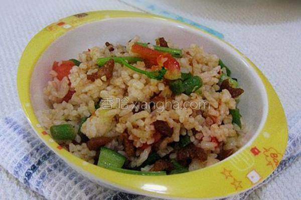 茄汁虾仁炒饭的做法