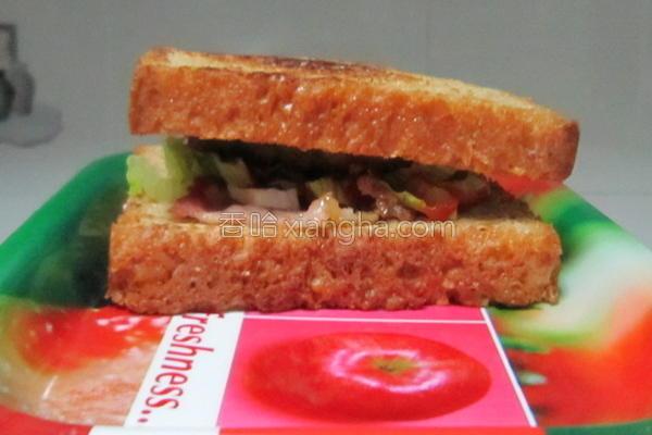 能量三明治的做法