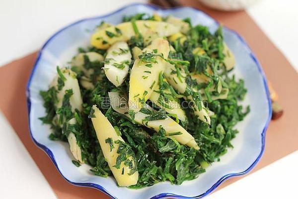 春笋荠菜的做法