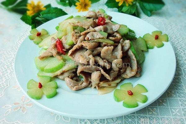 佛水瓜炒肉片的做法