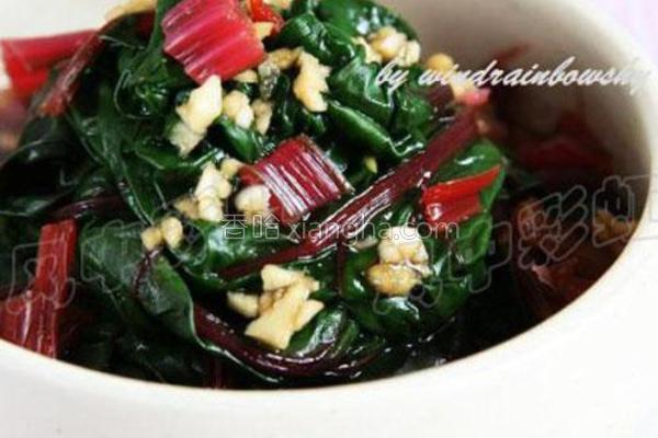 凉拌叶甜菜的做法