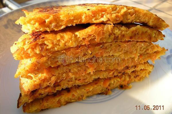 胡萝卜鸡蛋玉米饼的做法