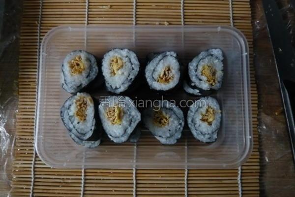 自制竹帘海苔饭卷的做法