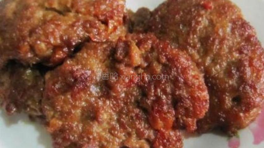 西红柿牛肉饼