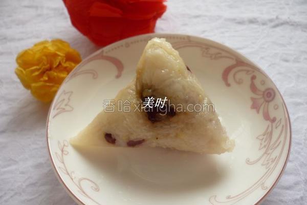 红豆花生蜜枣粽的做法