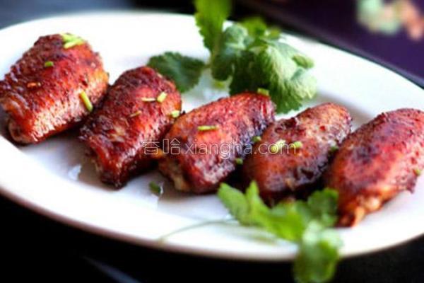 蒜香五味烤翅的做法