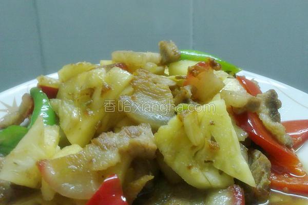 菠萝炒肉的做法