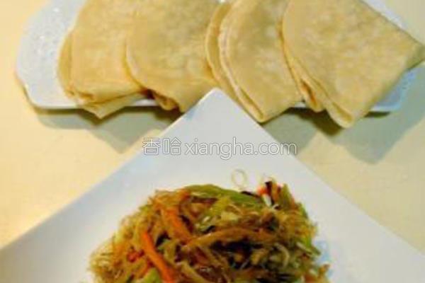 薄饼卷什锦合菜的做法