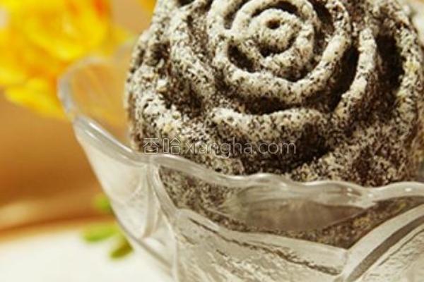 玫瑰巧克力玛芬的做法