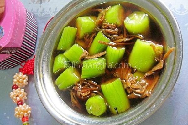 霉干菜丝瓜汤的做法