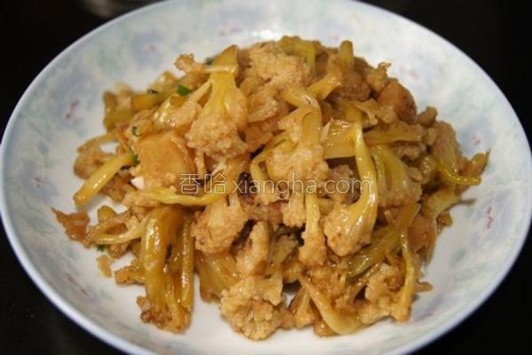 小炒腌花菜的做法