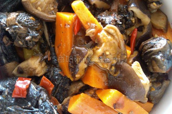 香菇胡萝卜烧乌鸡的做法