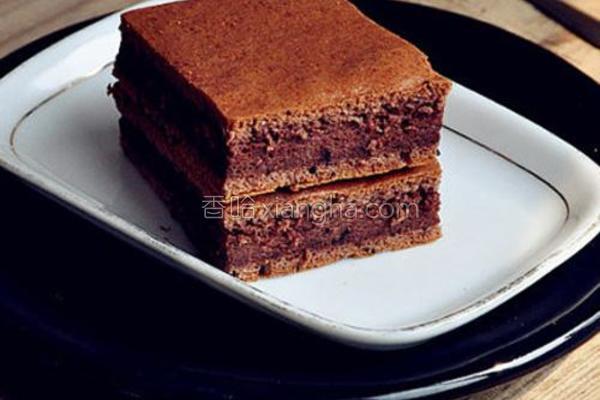 巧克力蜜豆蛋糕的做法