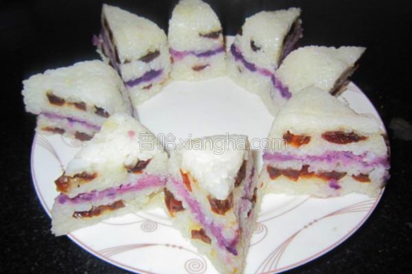 红枣紫薯糕的做法