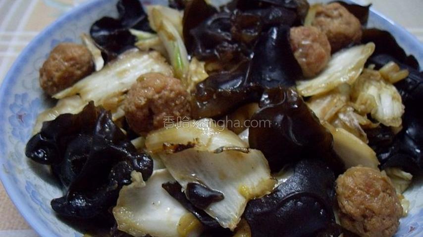 肉丸黑白菜
