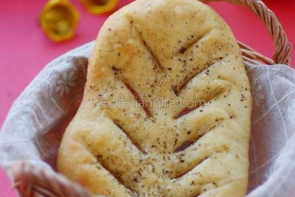 香草叶形烤饼的做法