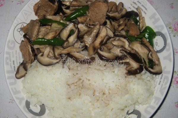 香菇肉片盖饭