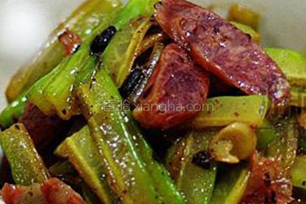 豆豉酸梅炒凉瓜的做法
