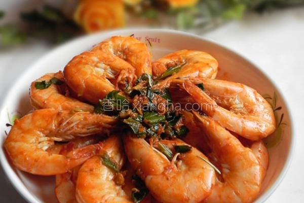 葱烧大虾的做法
