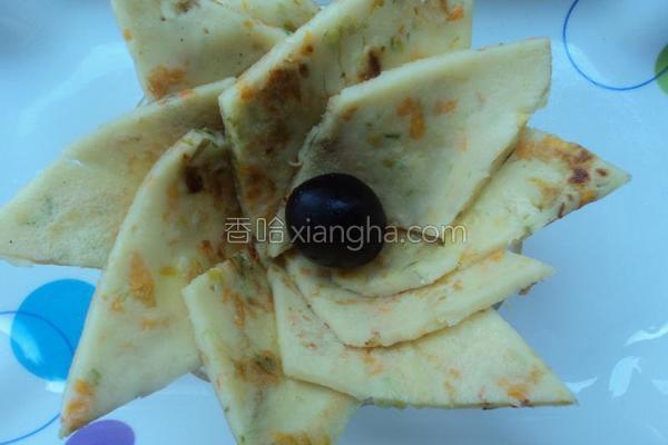 南瓜花煎饼的做法