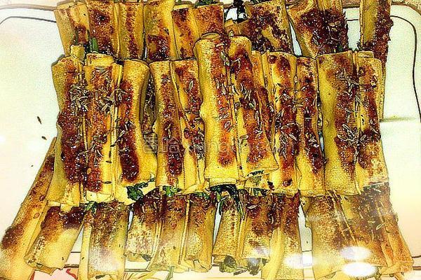 香菜干豆腐卷的做法