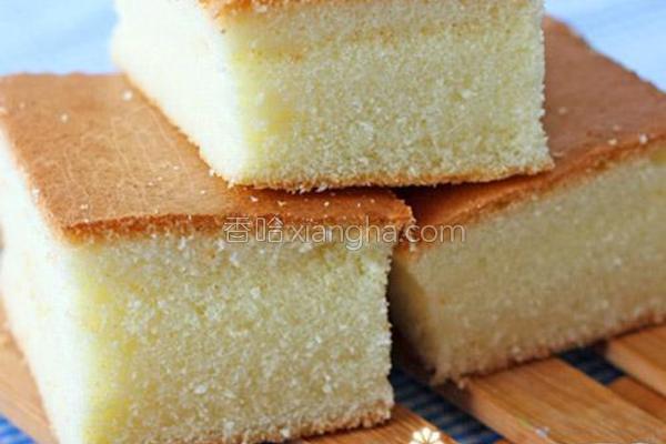 老式海绵蛋糕的做法