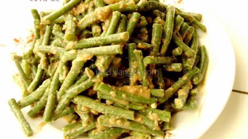蒜蓉麻汁豇豆