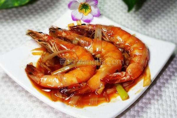 大葱烧虾的做法